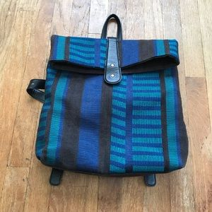 Lucky Brand Blue Stripe Pattern Back Pack